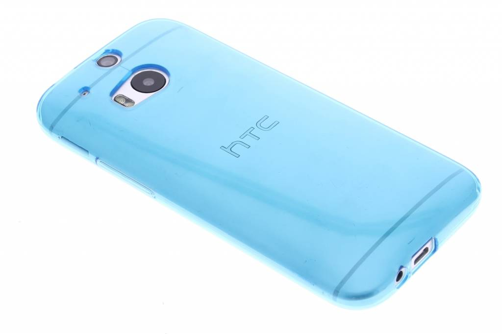 Turquoise transparante gel case voor de HTC One M8 / M8s