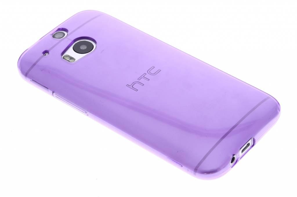 Paarse transparante gel case voor de HTC One M8 / M8s