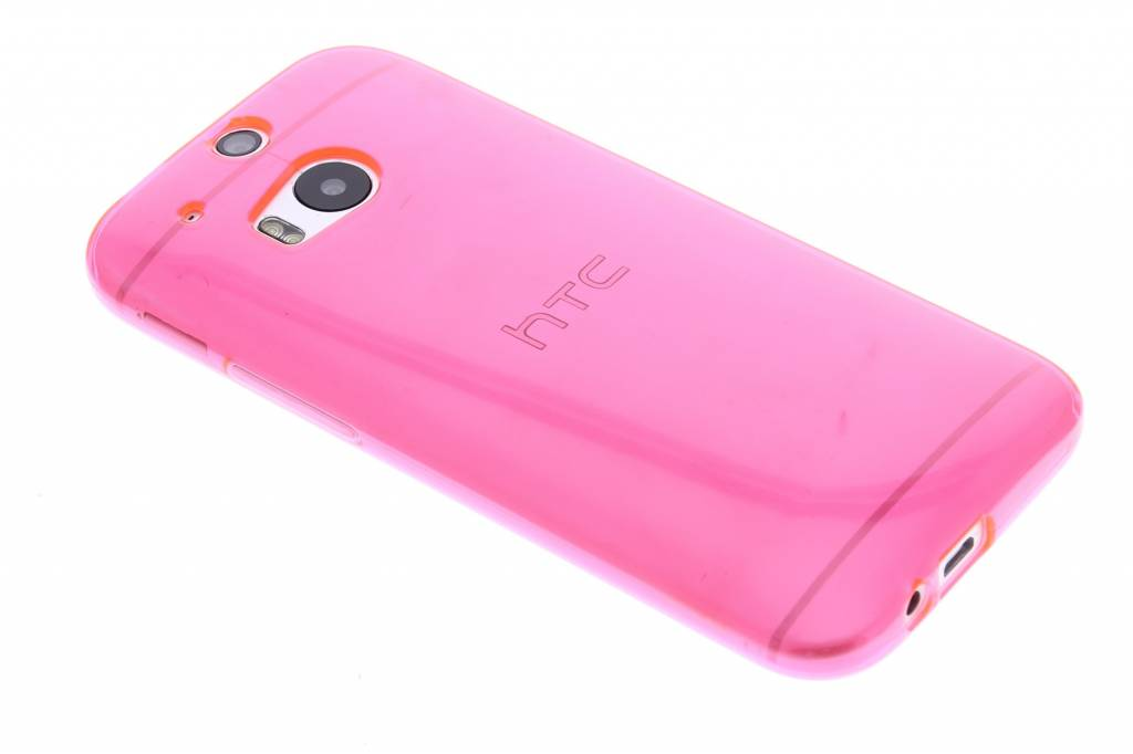 Fuchsia transparante gel case voor de HTC One M8 / M8s
