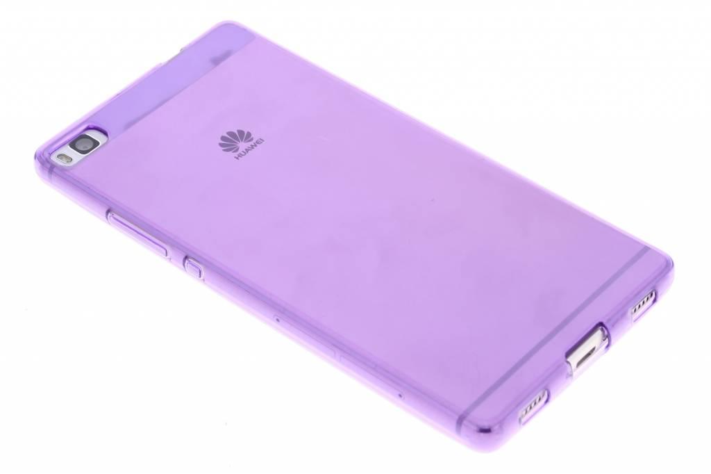 Paarse transparante gel case voor de Huawei P8