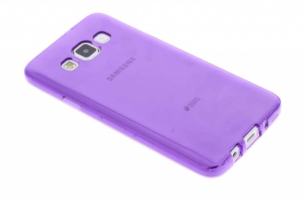 Paarse transparante gel case voor de Samsung Galaxy A3