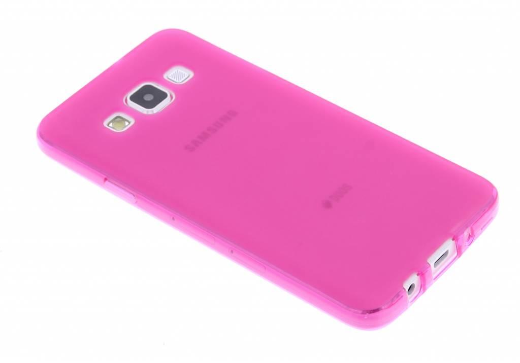 Fuchsia hard siliconen hoesje voor de Samsung Galaxy A3