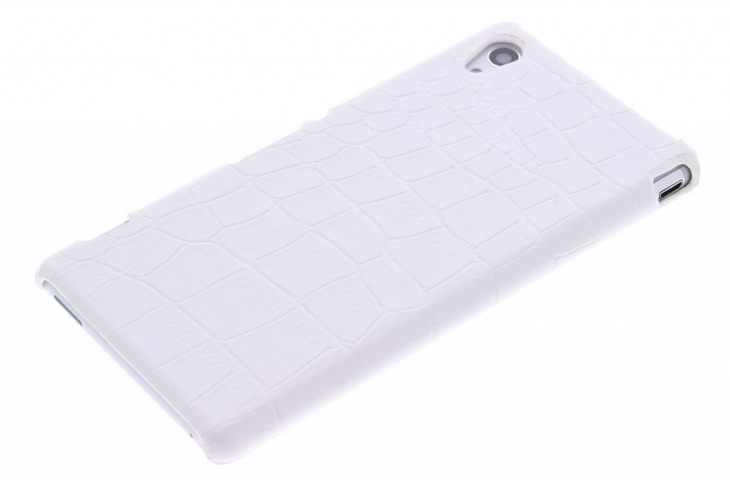 Crocodile Blanc Cas Étui Rigide Pour Sony Xperia M4 Aqua CgQJSJiFm
