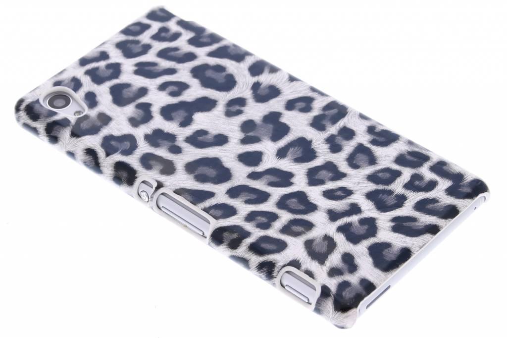 Grijs luipaard design hardcase hoesje voor de Sony Xperia M4 Aqua