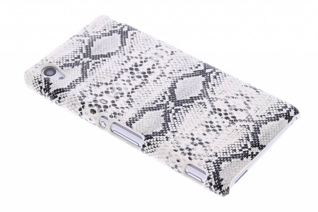Wit slangen design hardcase hoesje voor de Sony Xperia M4 Aqua