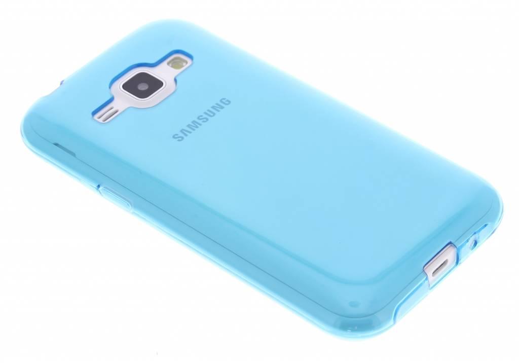Turquoise transparante gel case voor de Samsung Galaxy J1