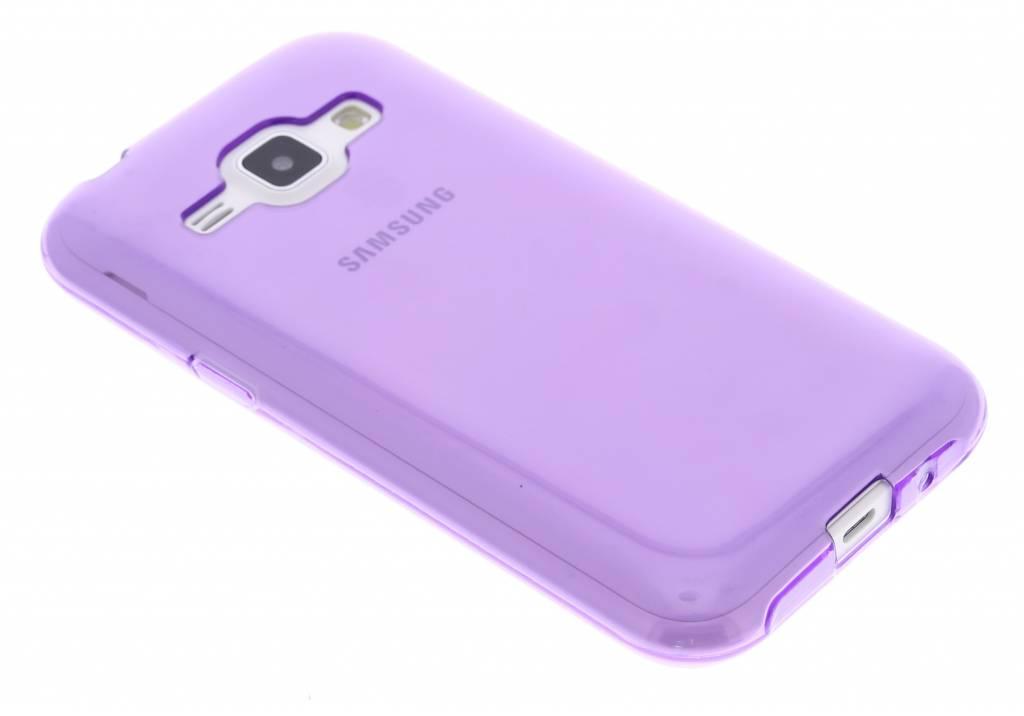 Paarse transparante gel case voor de Samsung Galaxy J1