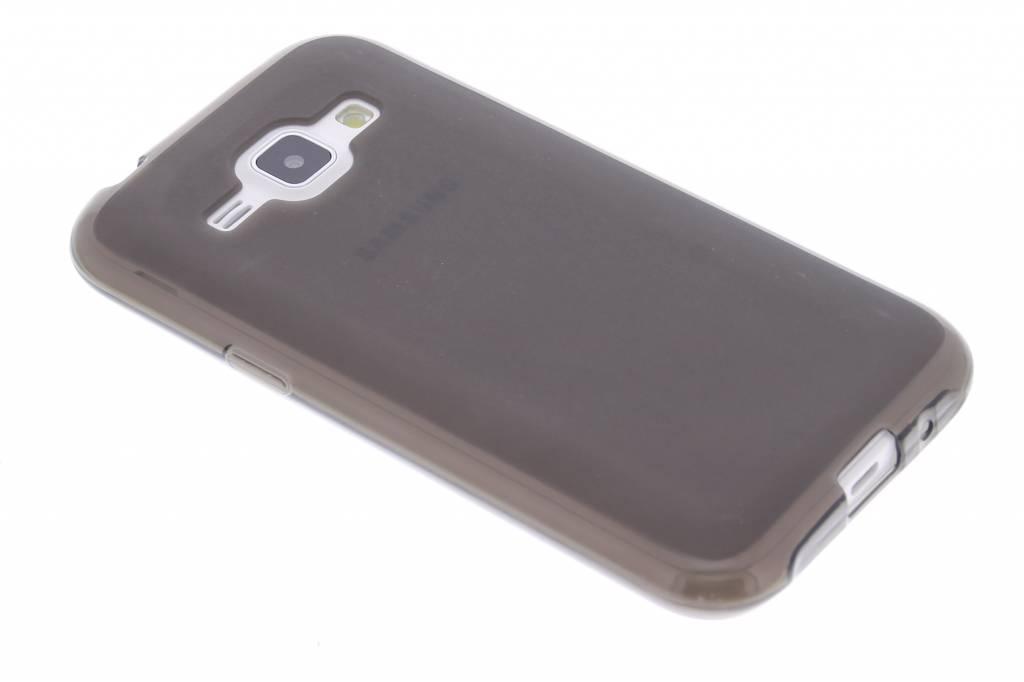 Grijs hard siliconen hoesje voor de Samsung Galaxy J1
