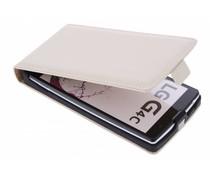 Selencia Luxe Flipcase LG Magna / G4c - Gebroken wit