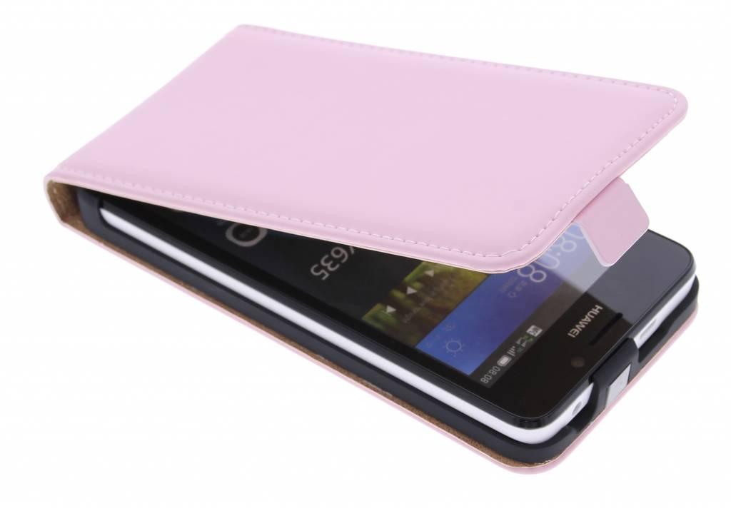 Selencia Luxe Flipcase voor de Huawei Y635 - Poederroze