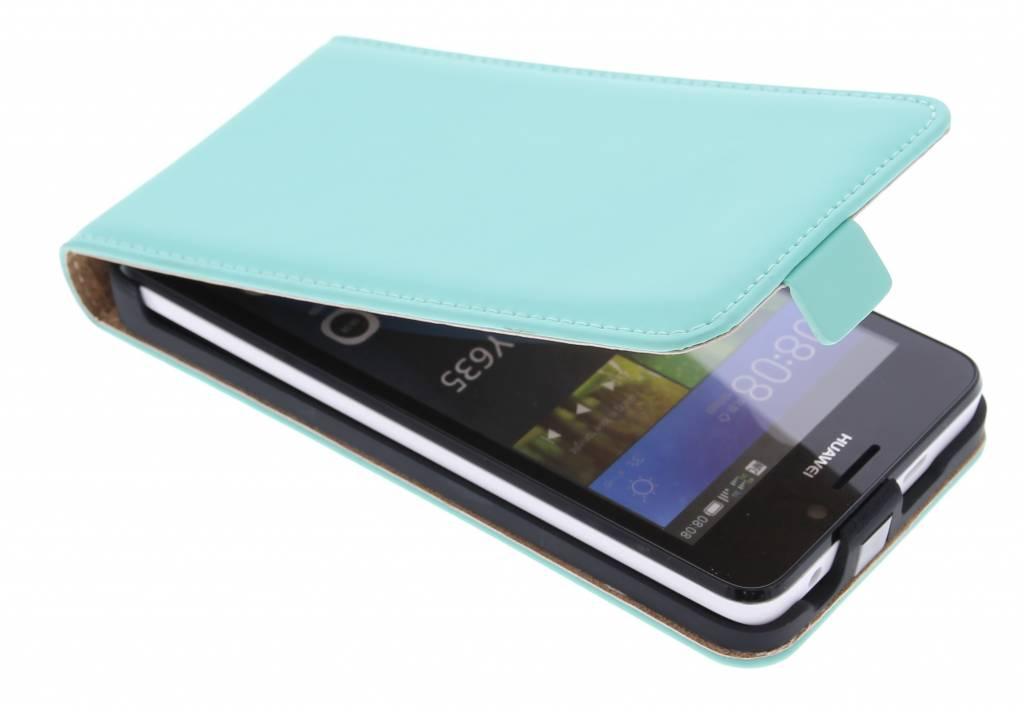 Selencia Luxe Flipcase voor de Huawei Y635 - Mintgroen