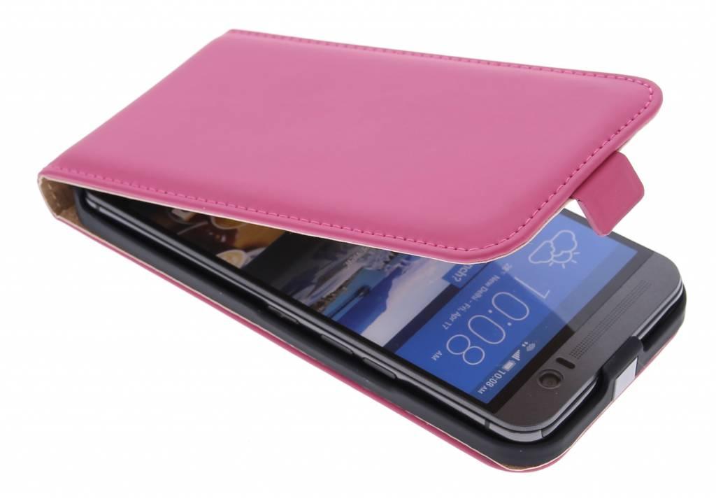 Selencia Luxe Flipcase voor de HTC One M9 Plus - Fuchsia