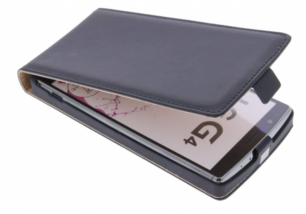 Selencia Luxe Flipcase voor de LG G4 - Zwart