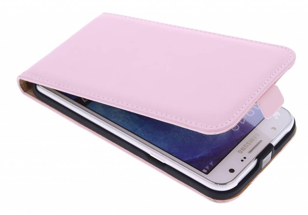 Selencia Luxe Flipcase hoes voor de Samsung Galaxy J7 - Poederroze