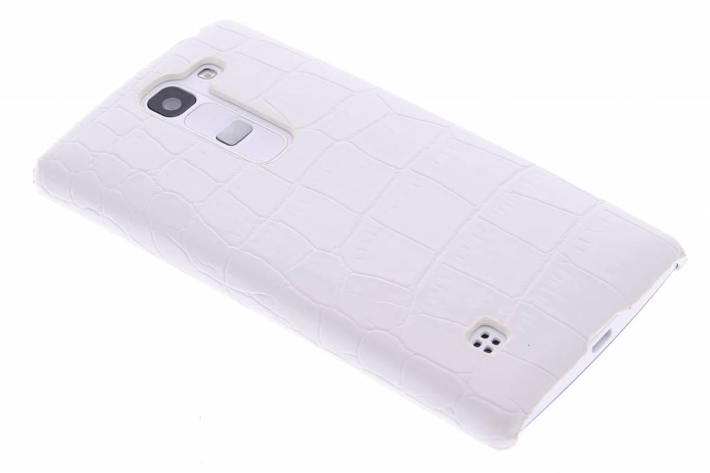 Wit krokodil design hardcase hoesje voor de LG Spirit
