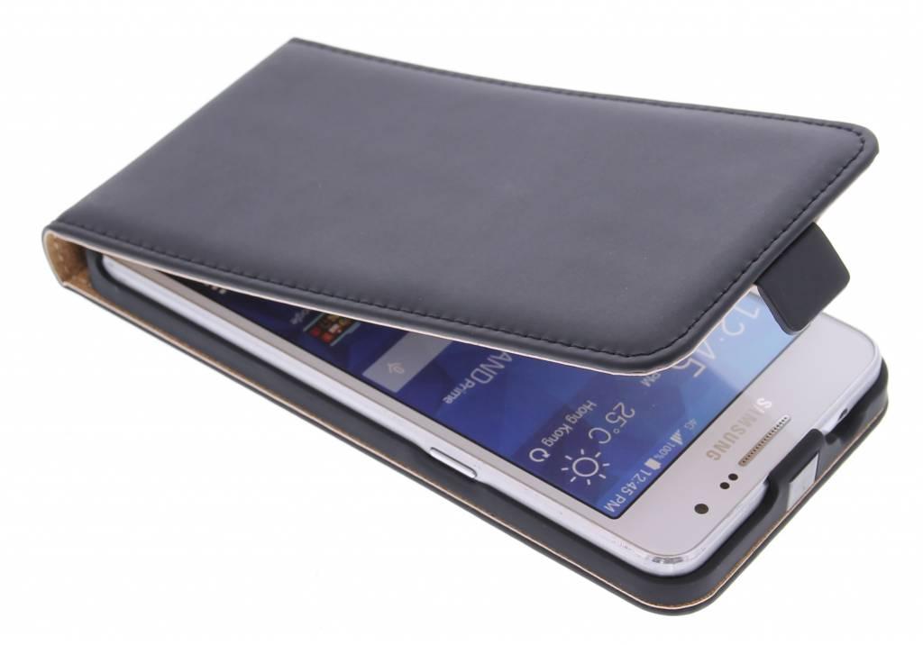 Selencia Luxe Flipcase voor de Samsung Galaxy Grand Prime - Zwart