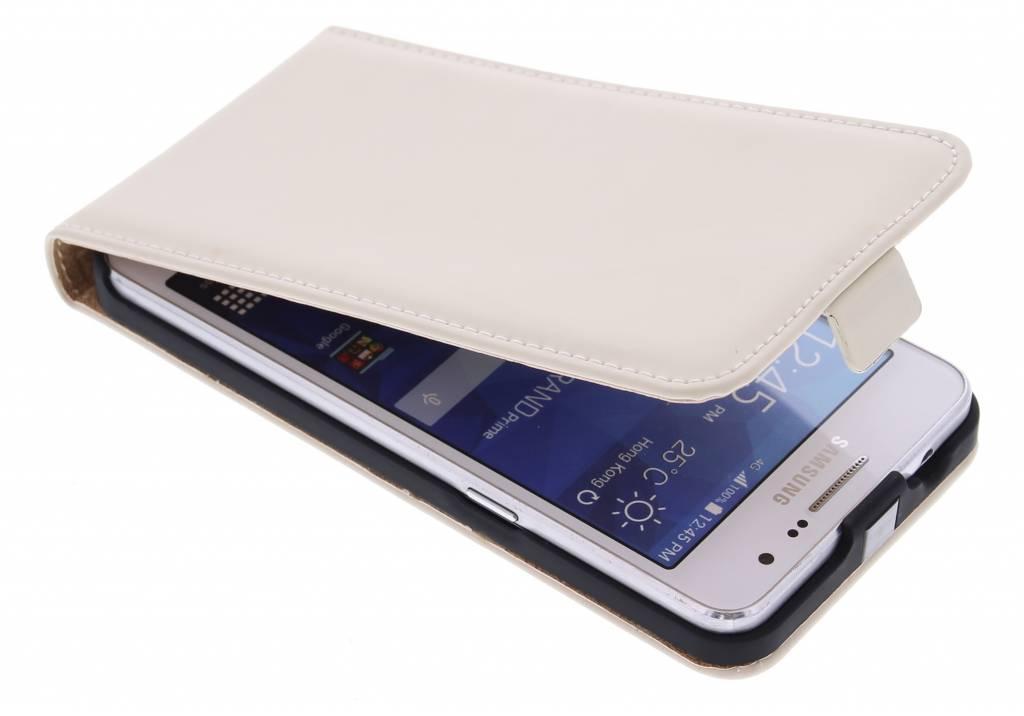 Selencia Luxe Flipcase voor de Samsung Galaxy Grand Prime - Gebroken wit