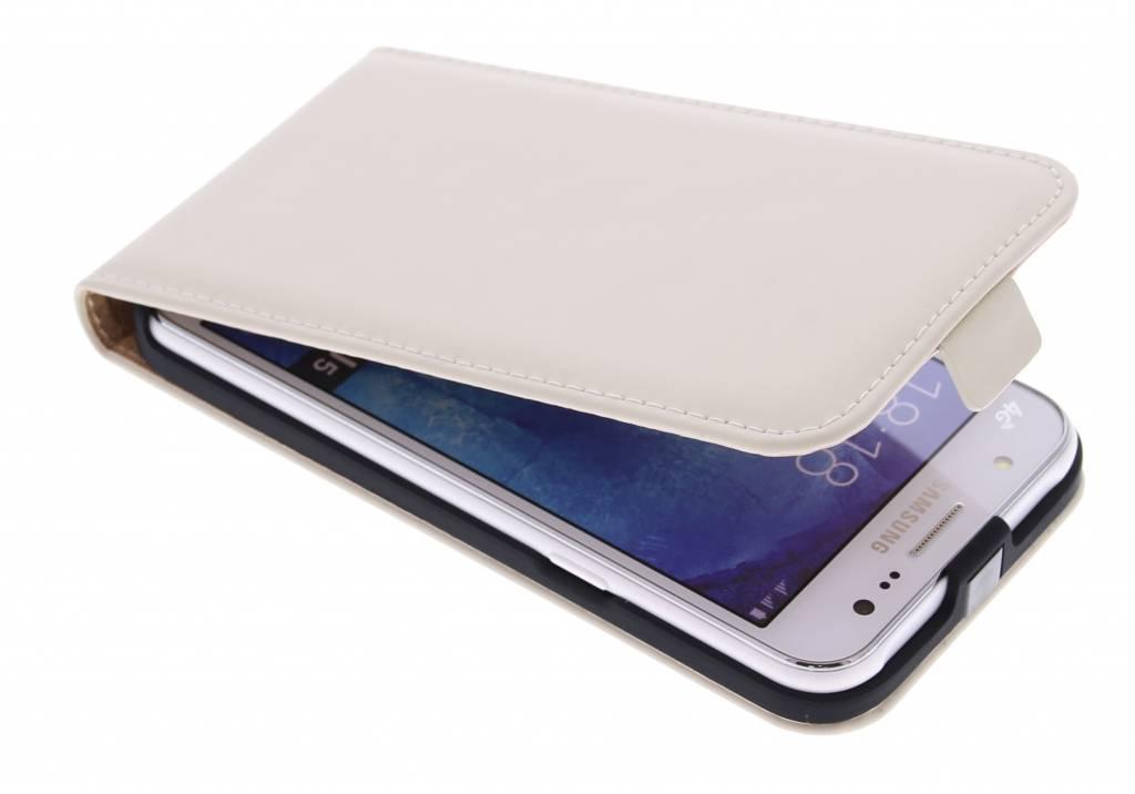 Luxe Flipcase voor de Samsung Galaxy J5 - Gebroken wit