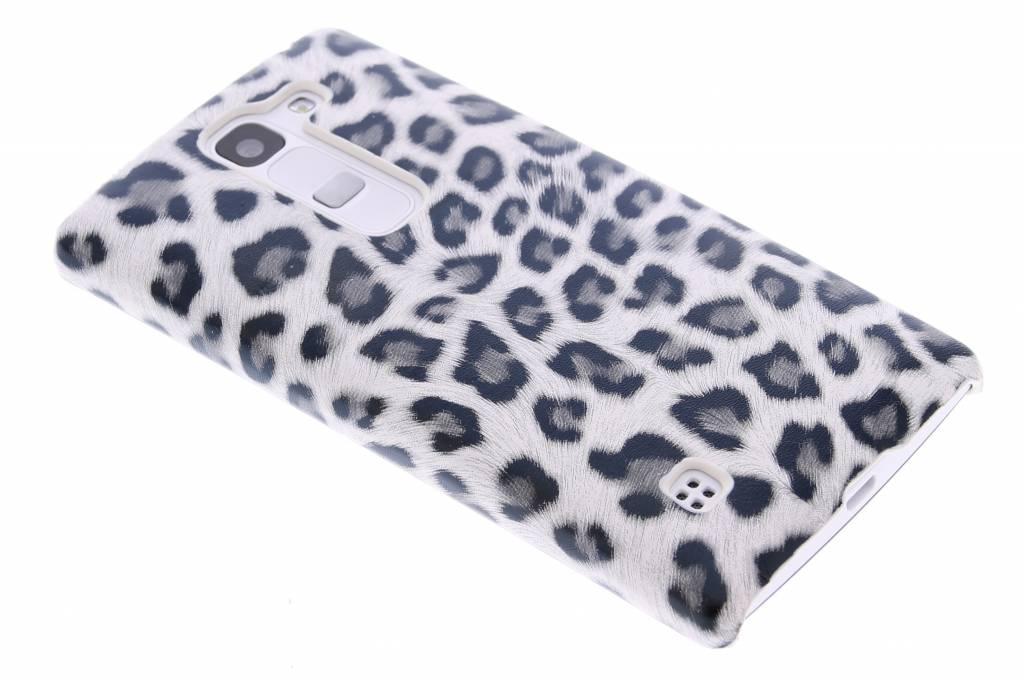 Grijs luipaard design hardcase hoesje voor de LG Spirit