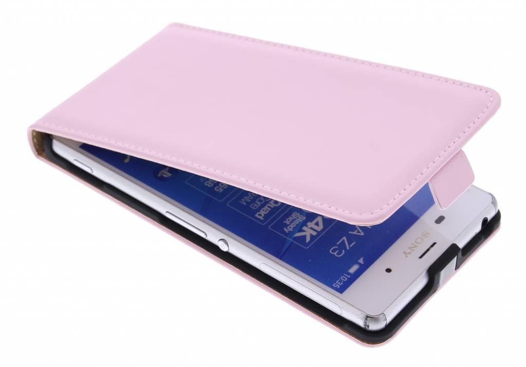 Selencia Luxe Flipcase voor de Sony Xperia Z3 Plus - Poederroze
