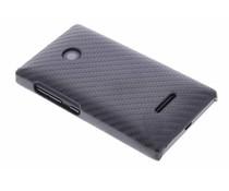 Zwart carbon look hardcase Microsoft Lumia 435
