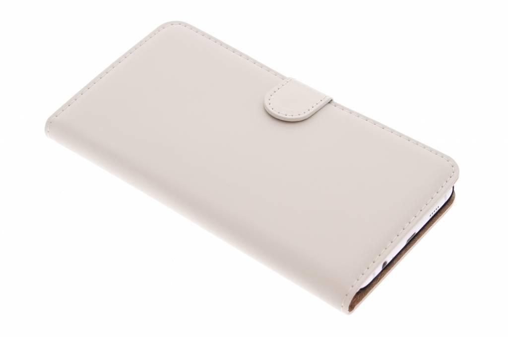 Selencia Luxe Book Case voor de Samsung Galaxy S6 Edge Plus - Gebroken wit