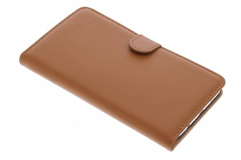 Selencia Luxe Book Case voor de Samsung Galaxy S6 Edge Plus - Bruin
