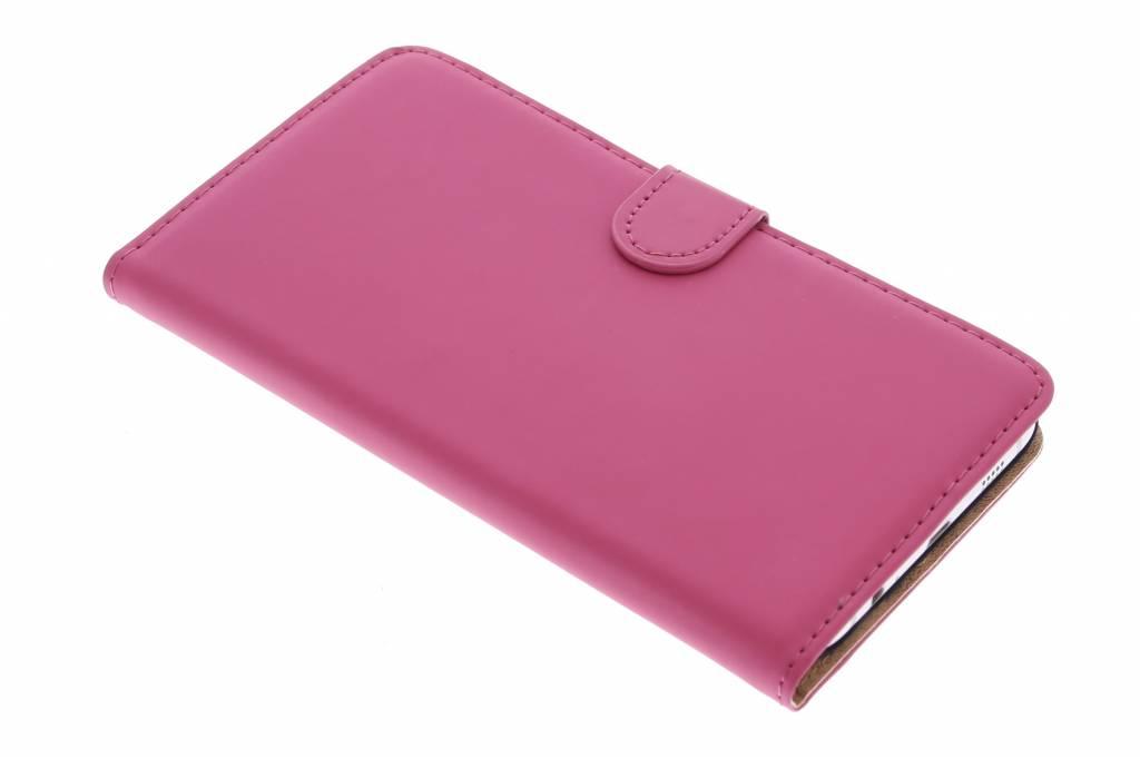 Selencia Luxe Book Case voor de Samsung Galaxy S6 Edge Plus - Fuchsia