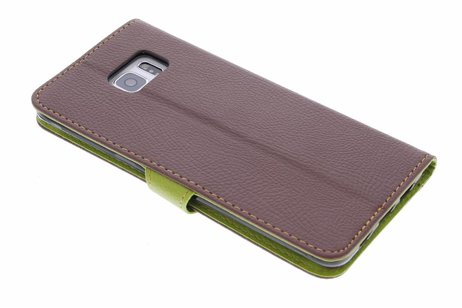 Conception Feuille Brune Booktype Tpu Case Pour Samsung Galaxy Edgeplus 9mUdBvf