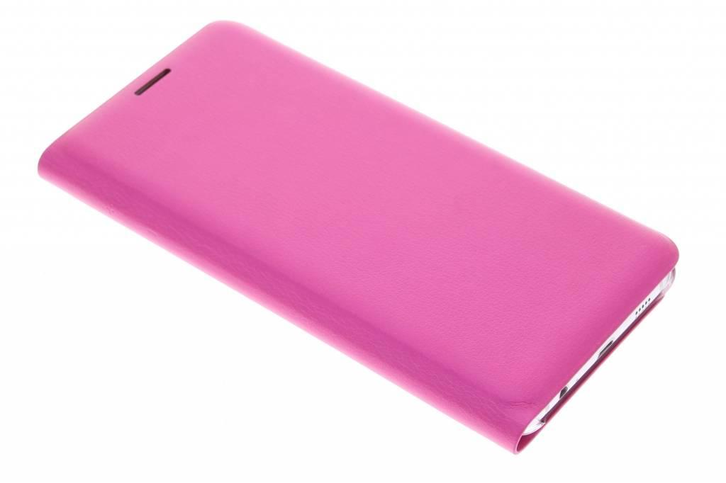 Fuchsia slim booktype hoes voor de Samsung Galaxy S6 Edge Plus