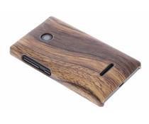 Hout design hardcase hoesje Microsoft Lumia 435