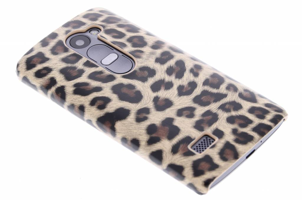 Bruin luipaard design hardcase hoesje voor de LG Leon