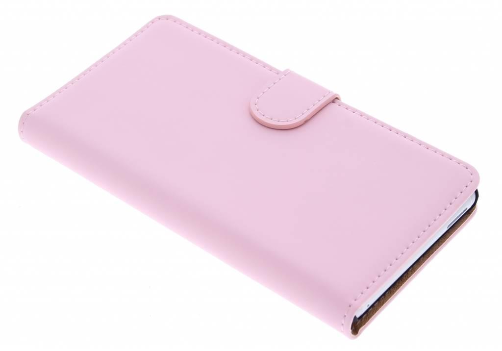 Selencia Luxe Book Case voor de Sony Xperia M4 Aqua - Poederroze