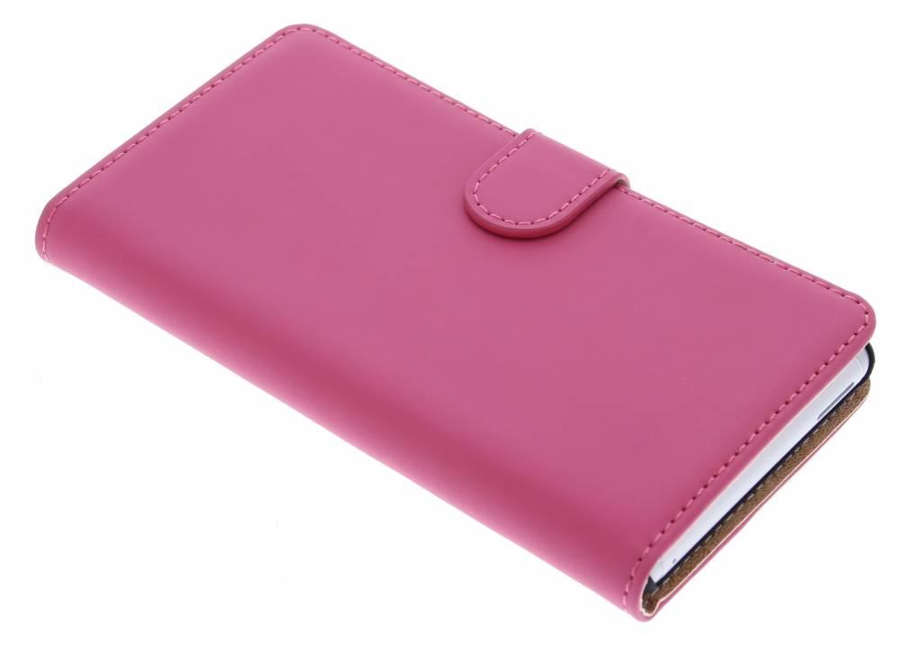 Selencia Luxe Book Case voor de Sony Xperia M4 Aqua - Fuchsia