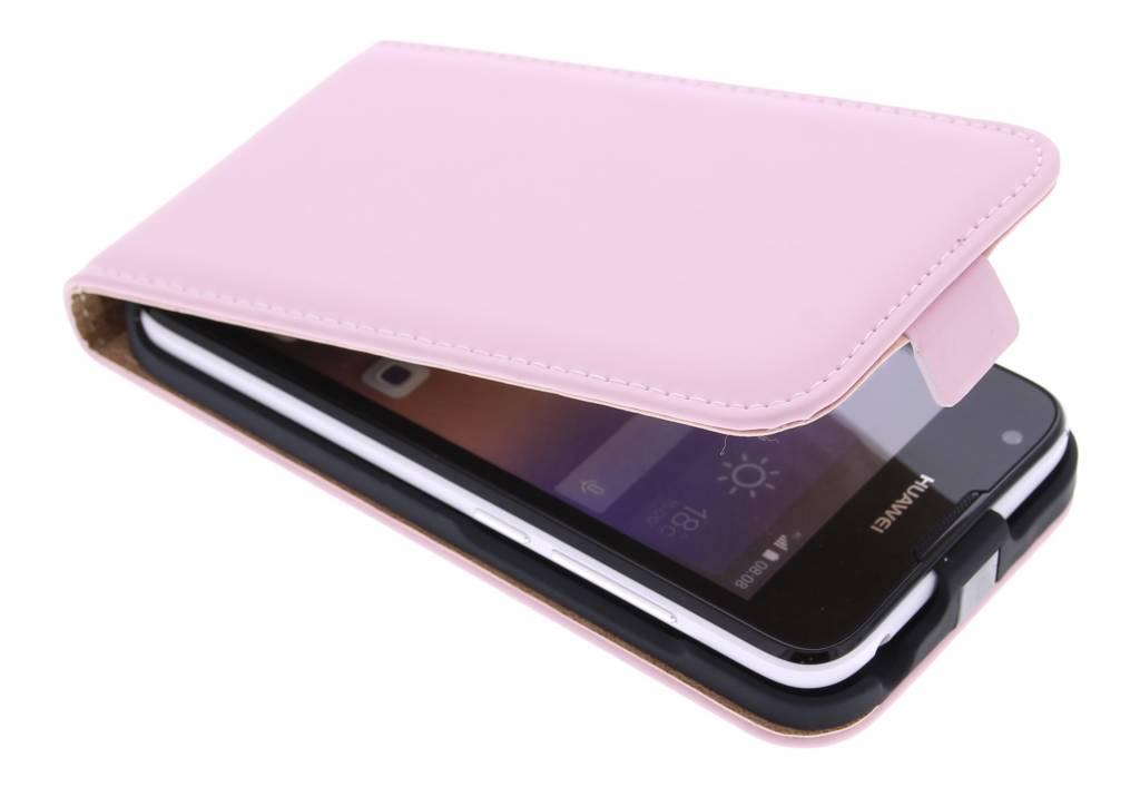 Selencia Luxe Flipcase voor de Huawei Ascend Y550 - Poederroze