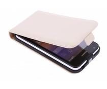 Selencia Luxe Flipcase Huawei Ascend Y550 - Gebroken wit