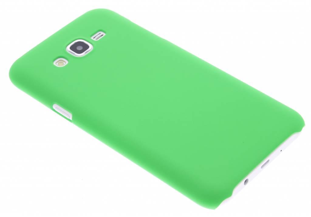 Groen effen hardcase hoesje voor de Samsung Galaxy J7