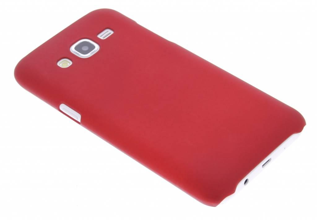 Rood effen hardcase hoesje voor de Samsung Galaxy J5