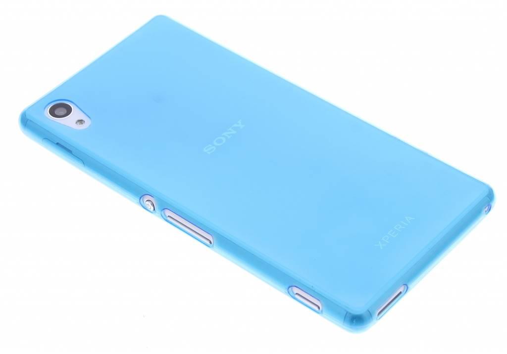 Blauw ultra thin transparant TPU hoesje voor de Sony Xperia M4 Aqua