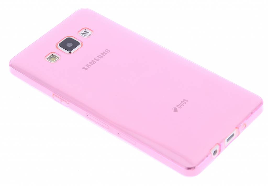Roze ultra thin transparant TPU hoesje voor de Samsung Galaxy A5