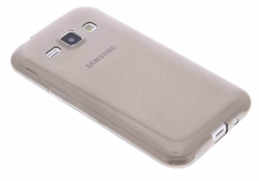 Grijs ultra thin transparant TPU hoesje voor de Samsung Galaxy J1