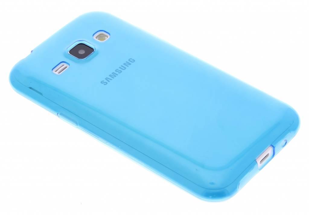 Blauw ultra thin transparant TPU hoesje voor de Samsung Galaxy J1