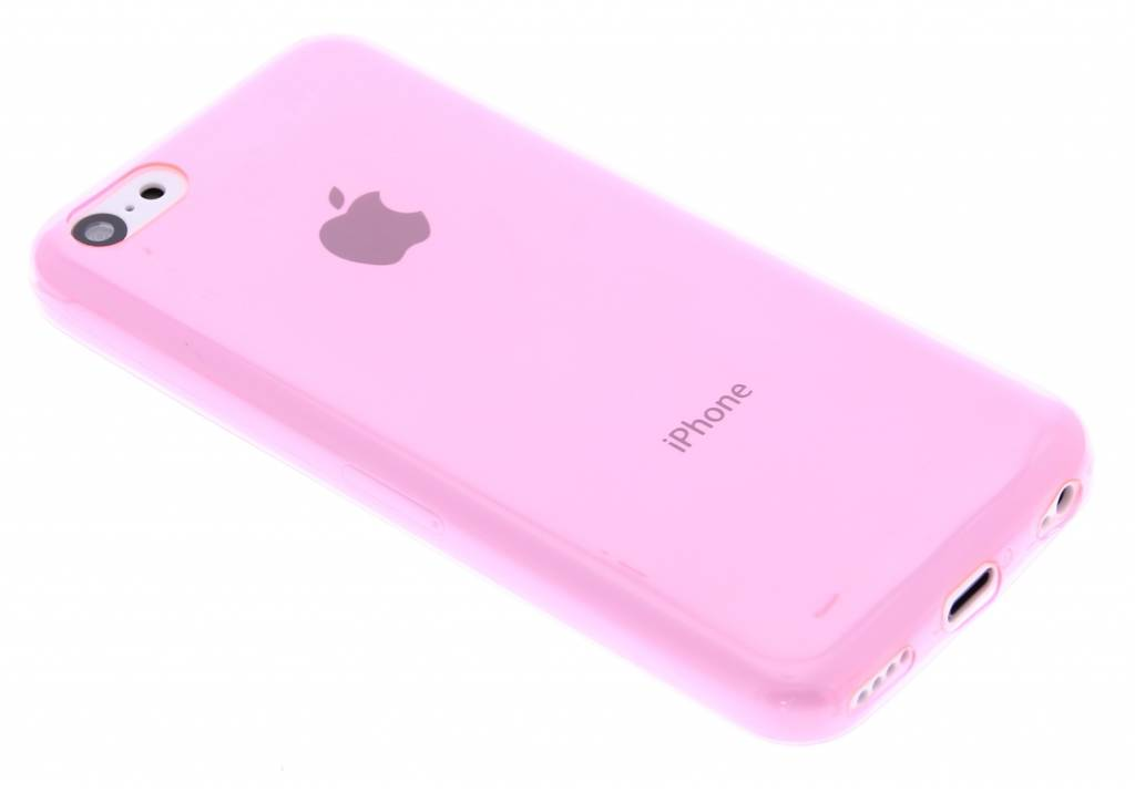 Roze ultra thin transparant TPU hoesje voor de iPhone 5c