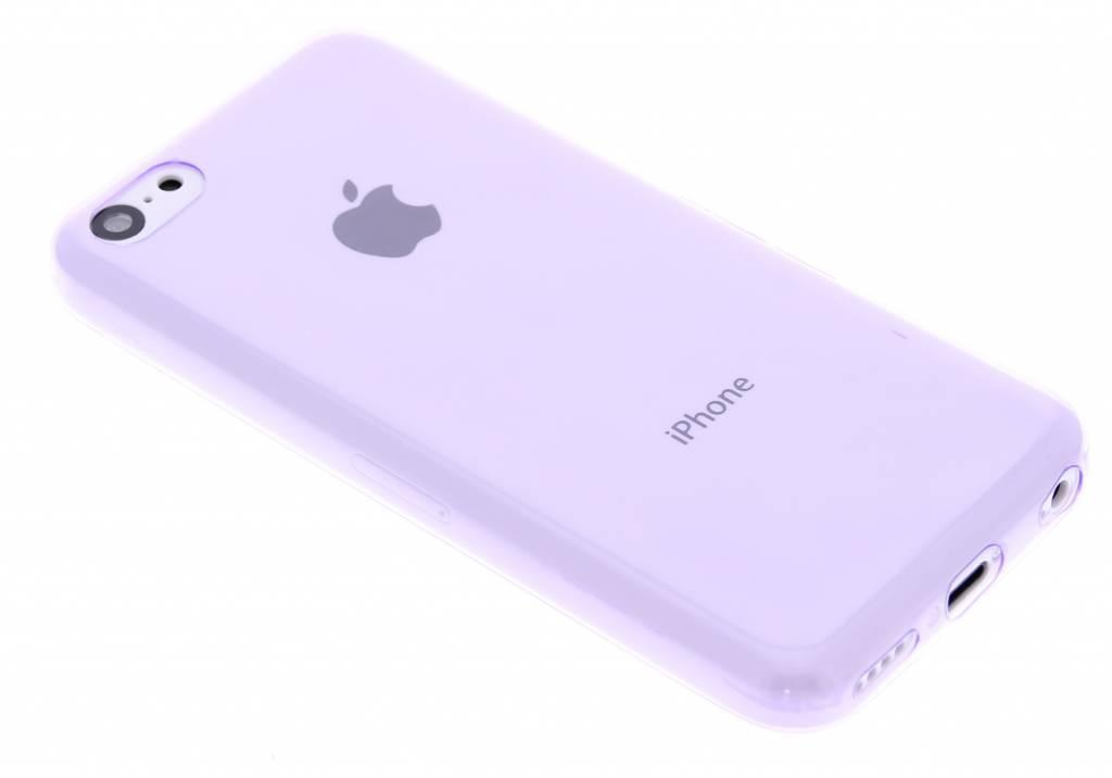 Paars ultra thin transparant TPU hoesje voor de iPhone 5c