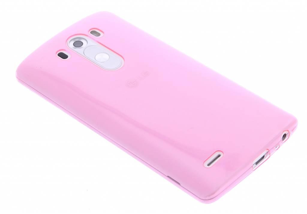 Roze ultra thin transparant TPU hoesje voor de LG G3