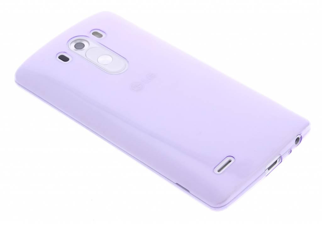 Paars ultra thin transparant TPU hoesje voor de LG G3