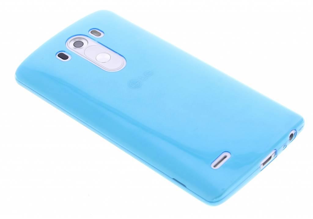 Blauw ultra thin transparant TPU hoesje voor de LG G3