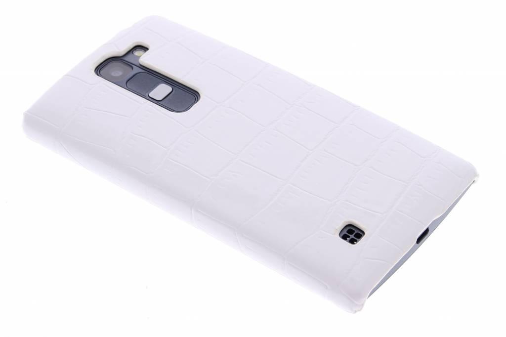Wit krokodil design hardcase hoesje voor de LG Magna / G4c