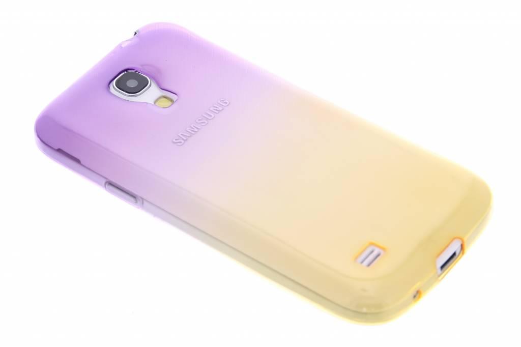 Paars/geel  transparant TPU siliconen hoesje voor de Samsung Galaxy S4 Mini