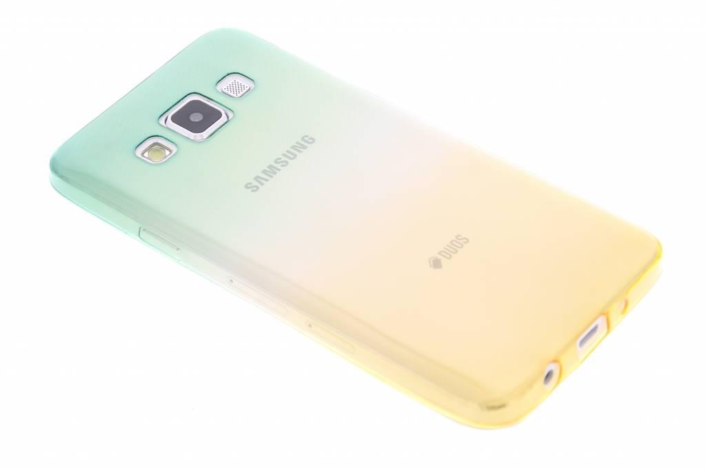 Bicolor Vert / Jaune Étui En Silicone Tpu Pour Samsung Galaxy A3 (2017) N1sSUls